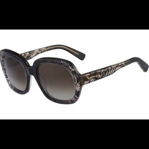 Never worn Valentino grey lace sunglasses